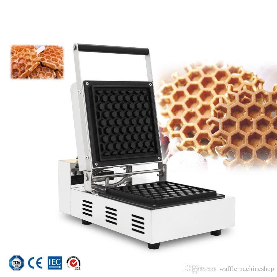 YENI Petek Waffle Maker Kahve Süt Çay Mağazası Kek Ekipmanları Elektrikli Kek Snack Ekipmanları Waffle Yapma Makinesi Ticari