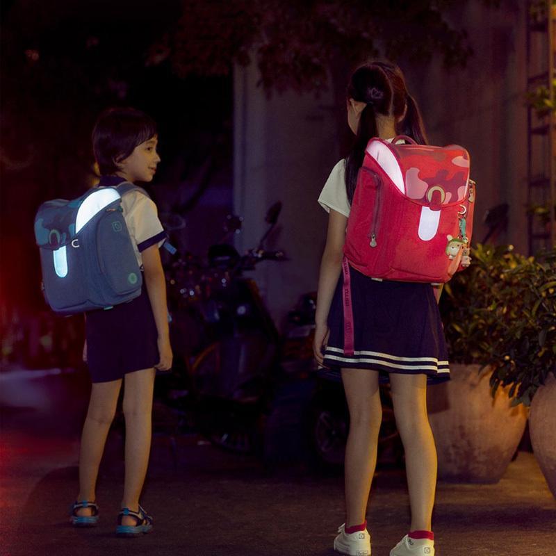 Mijia Gece Görüş Çanta 13L Büyük Kapasiteli Su geçirmez Çocuklar Shool Sırt Çantası Dekompresyon Spinal Kir Dayanıklı Çocuk Boy