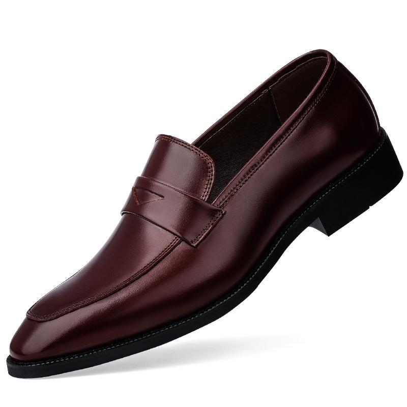 Couro genuíno Bullock Design Os homens de negócios formal sapatos clássicos sapatos bicudos Toe de couro Homens Oxford Vestem
