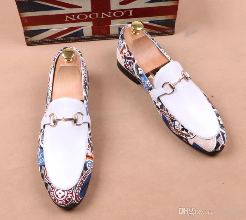 мода плоского случайного мужской обуви дышащих личностей парикмахер Англии кожаного мужской ботинки платья дизайнер обувь для мужчин