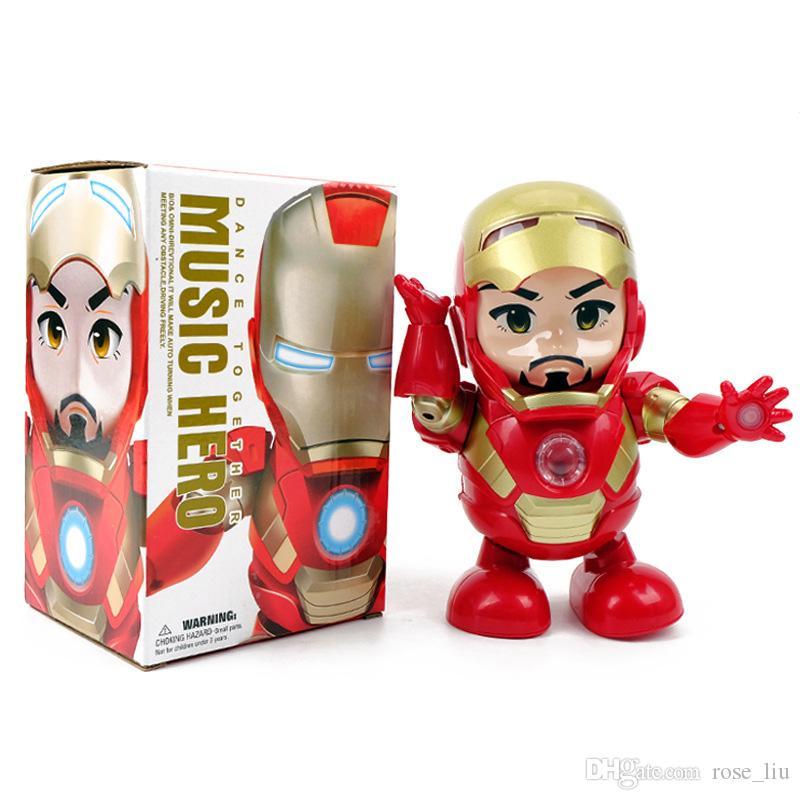 Marvel Avengers 4 Endgame Super Heroes dance Iron Man With music Mech Model Toys Collection Action Figure Does not contain battery B