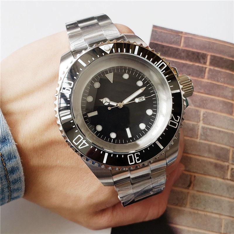 أعلى جودة أزياء الرجال ووتش سوبر SD الصلبة الاجتياح الفولاذ المقاوم للصدأ الحركة التلقائية الميكانيكية ذكر الرياضة ساعة اليد الكبيرة المعصم 51mm الطلب