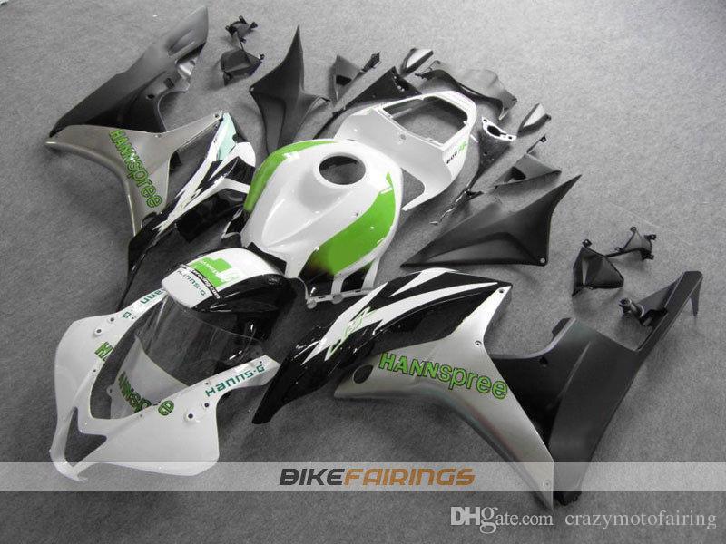 Nouveaux kits de carénages de moto de moulage par injection ABS 100% Fit pour Honda CBR600RR F5 07 08 2007 2008 carénages de carrosserie fixés cool white greem