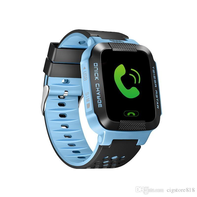 Touch Screen Y21 LBS Tracker WatchAnti-lost Children Kids Smart watch LBS Tracker Wrist Watchs SOS Call For Android IOS With Remote Camera