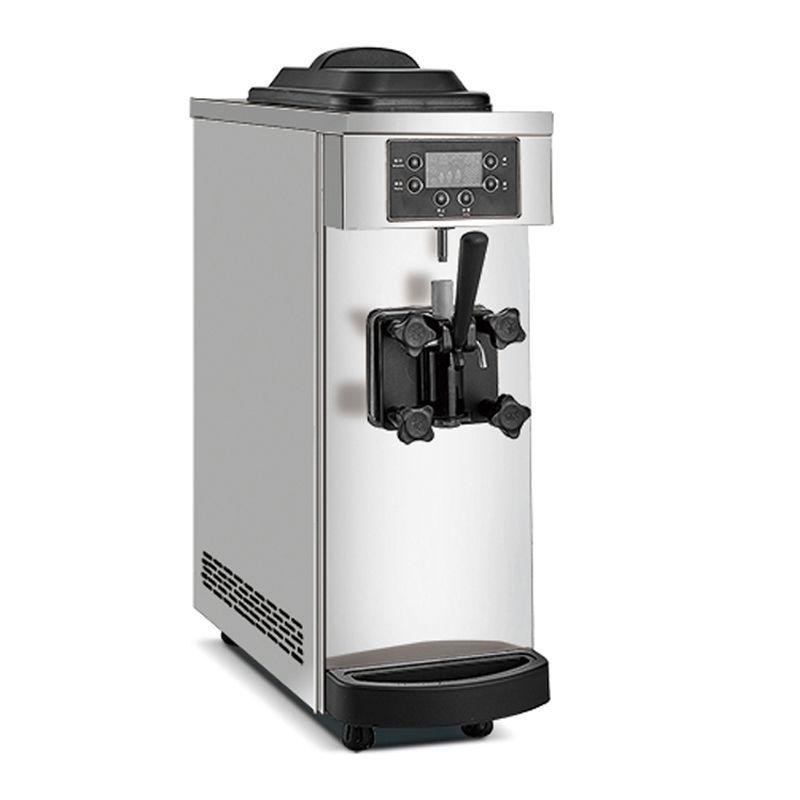 Petite silencieuse machine à crème glacée molle automatique crème glacée petit yogourt de bureau commercial faisant 1100W machine