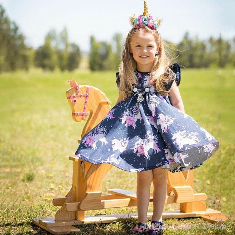 الأطفال الرضع بابيس الفتيات ملابس الصيف أكمام القطن الأزهار المطبوعة عارضة فساتين قطعة واحدة طفل طفلة الملابس زي