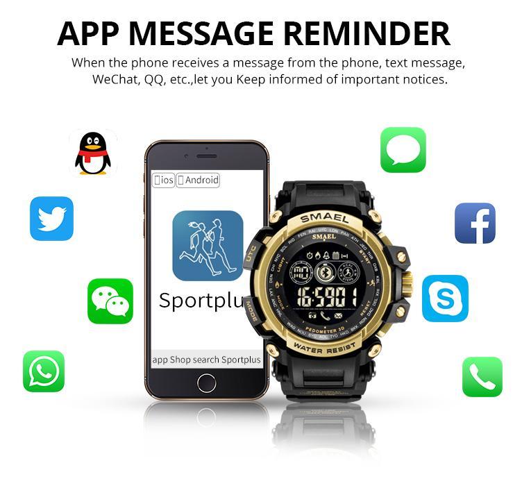 2020 الرجال المعصم الرقمية الساعات شاشة LED ووتش للذكور على مدار الساعة الرقمية رجال الرياضة الساعات الطلب الكبير 8018 Wtaerproof ساعات رجالية