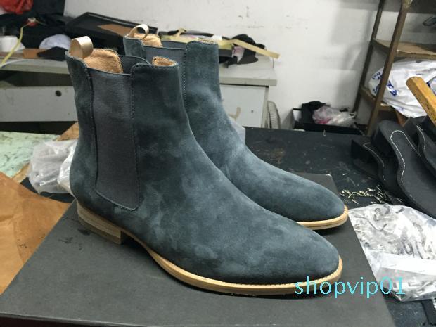 2020 Klasik Wyatt Bilek Boots Batı Tarzı Siyah Deri motorcylcle Çizme Erkekler Beyler Ayakkabı Kış Güz