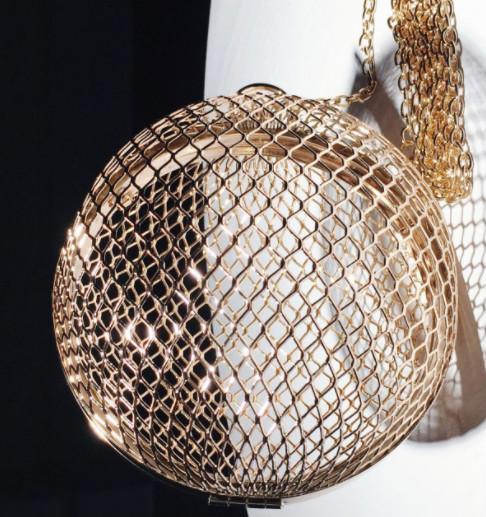 2018 yeni içi boş metal çanta çanta zincir küresel çörekler ateşi Mini haberci çantası gelgit üzerinde ins