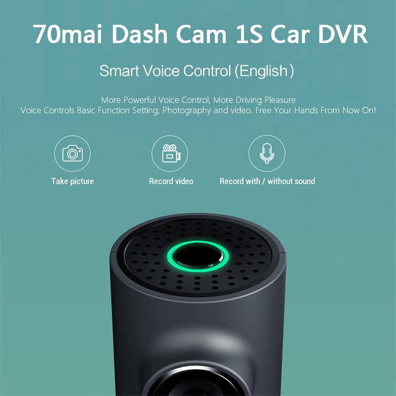 Xiaomiyoupin 70mai Dash Cam 1S auto DVR Wifi English Voice Control dash cam 1080P HD Night Vision Camera Car Video Recorder G-sensor
