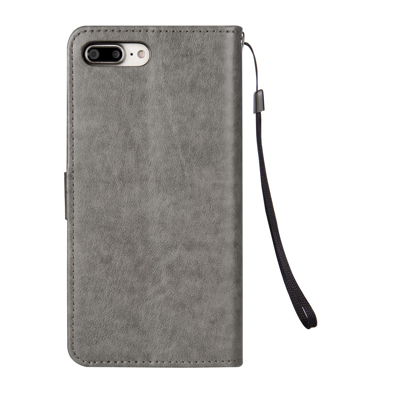 Nuova vibrazione del raccoglitore della cassa del cuoio di lusso di elaborazione di stile di copertura con i supporti di carta Phone Bag nero Freeshipping