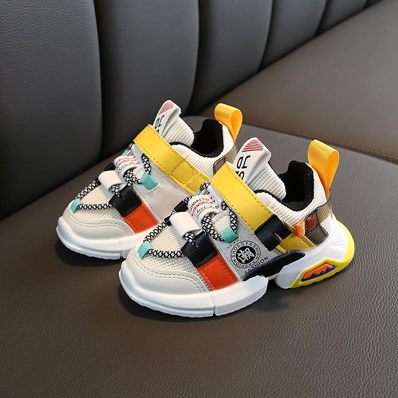 Autumn новых прибытий девочки кроссовок обувь для ребенка малыша кроссовок размера обуви 21-30 мод дышащей ребенки спортивной обуви