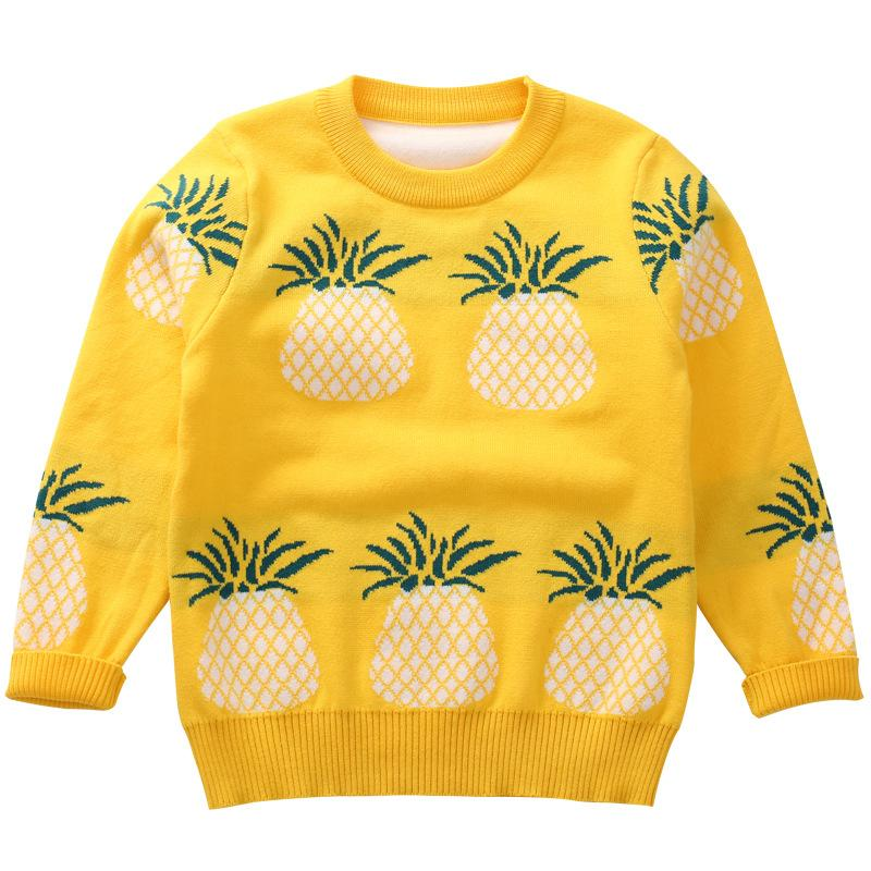 Toddler Baby Girls Pullover Sweatshirt Little Kid Boys Pineapple Print Sweater Top 2-7t