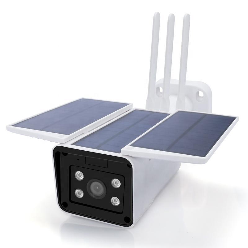 모션 감지와 4G 1080P 야외 태양 전지 전원 보안 카메라 와이파이 무선 충전식 배터리 IP 카메라