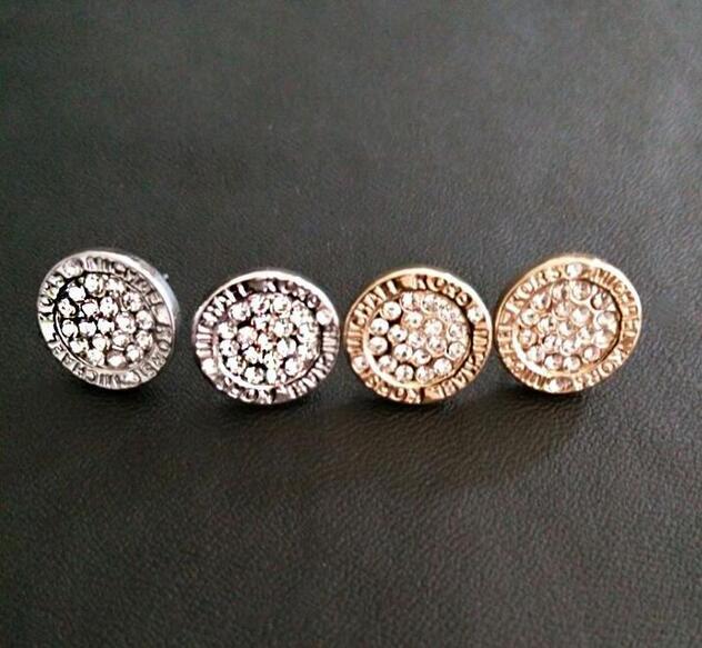 2019 venda MK marca Tone Brincos Do Parafuso Prisioneiro de Alta qualidade completa rodada brincos de cristal marca de moda jóias de Casamento para as mulheres meninas