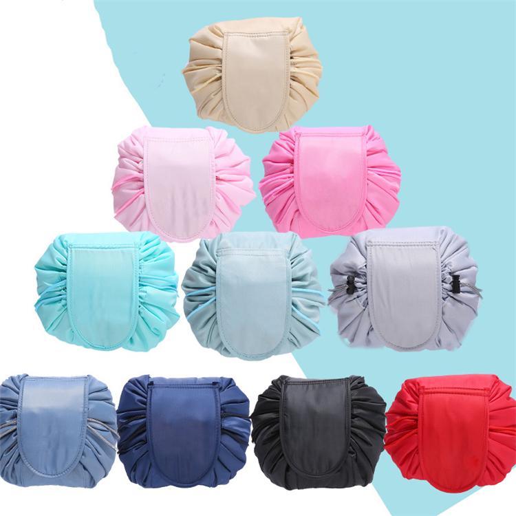 sacchetto pieghevole articoli casalinghi comune immagazzinaggio nuovo sacchetto cosmetico lazy coulisse 16 grande capienza corsa portatile T3I5530-1