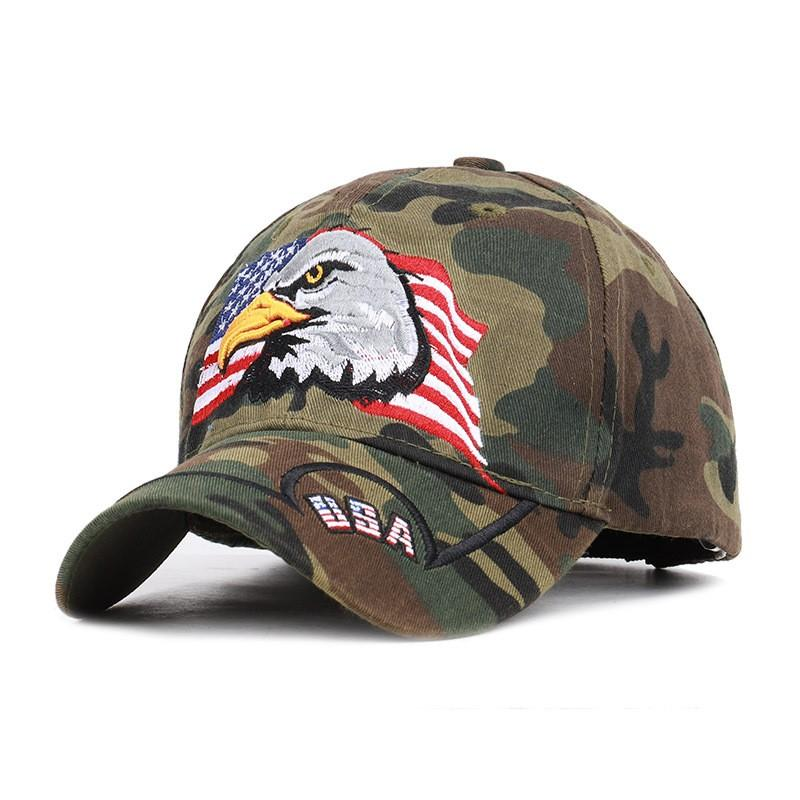 533e9e96d54e5 ... American Flag Baseball Cap Eagle Embroidery Snapback Unisex Tactics  Jungle Camo Hat Outdoor Sun Shading Leisure ...