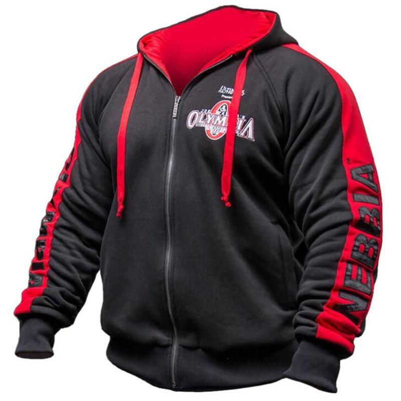 Hoodie Mens Algodão Moletons Masculino Outono Inverno Moda Quente Casual Jacket Zipper Homem encapuçado Jogger Workout Sportswear Tops Y200519