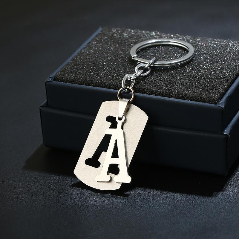 Kore Takı Zarif Hediye 26 Bireysel İngilizce Mektup Paslanmaz Çelik Anahtar Düğmesi Karışık Toplu