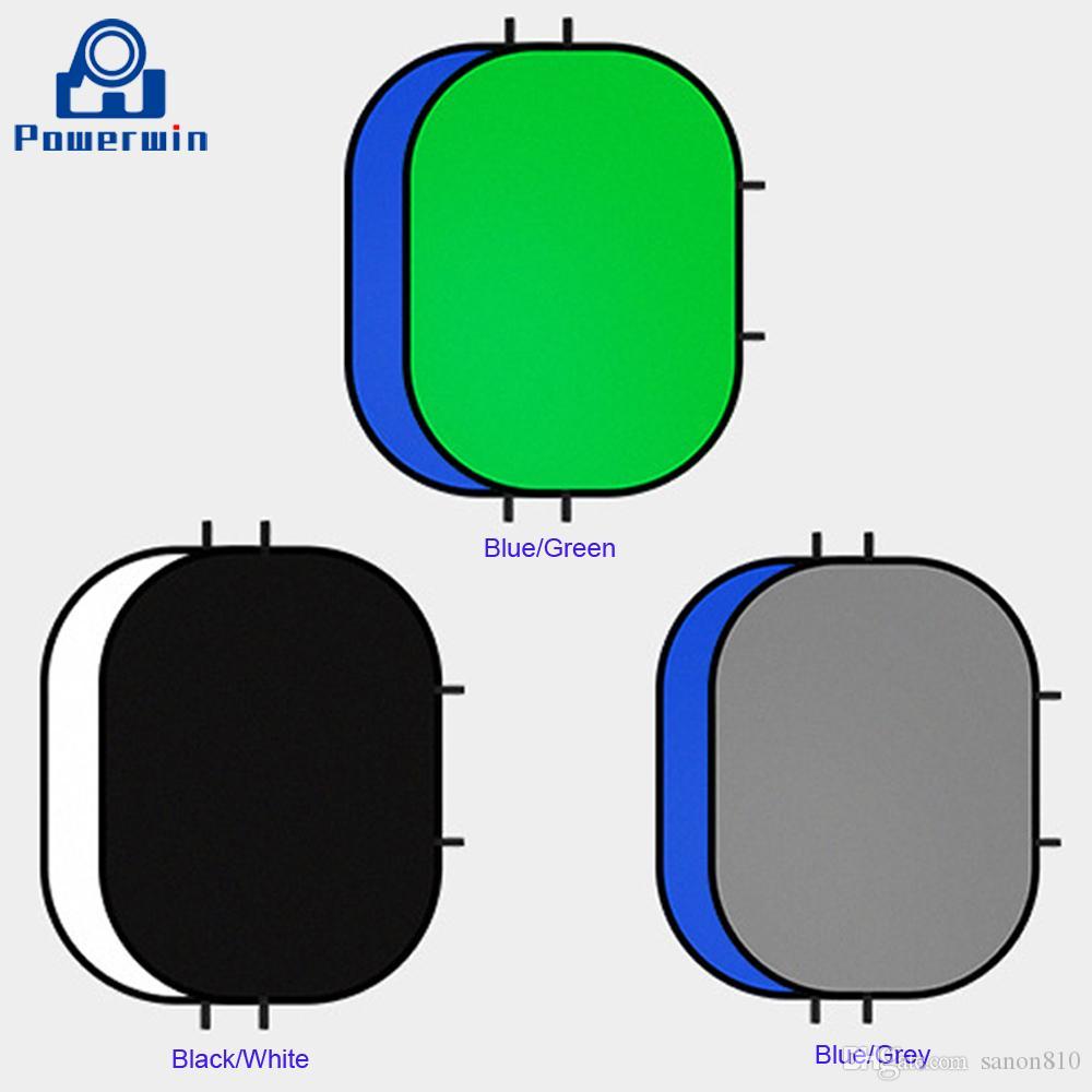 Powerwin хлопок Муслин студия Bacdrop фоновая пластина 150x200 см двухслойный синий зеленый серый белый черный для легкой стендовой фотосъемки
