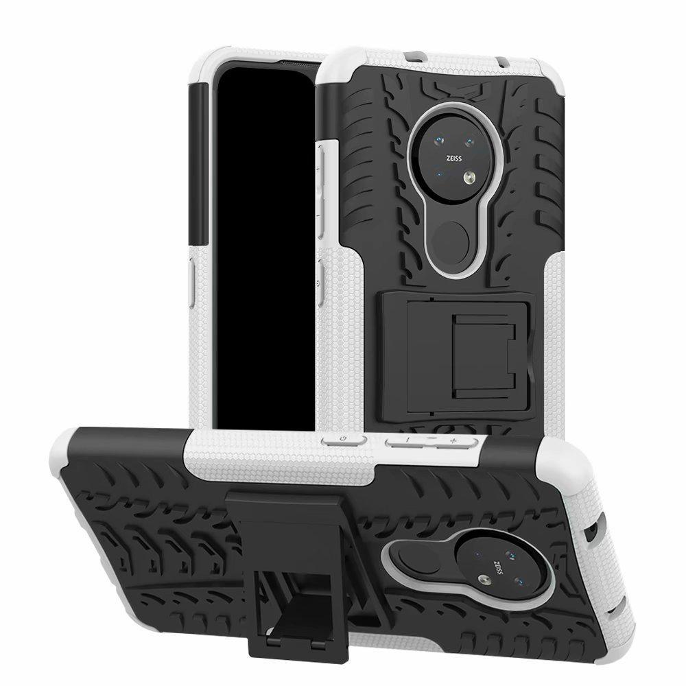 Pour Nokia 7.2 Case Noble Mode Ultra-mince dur PC couverture arrière luxe coloré autocollant de protection pour Nokia 7.2