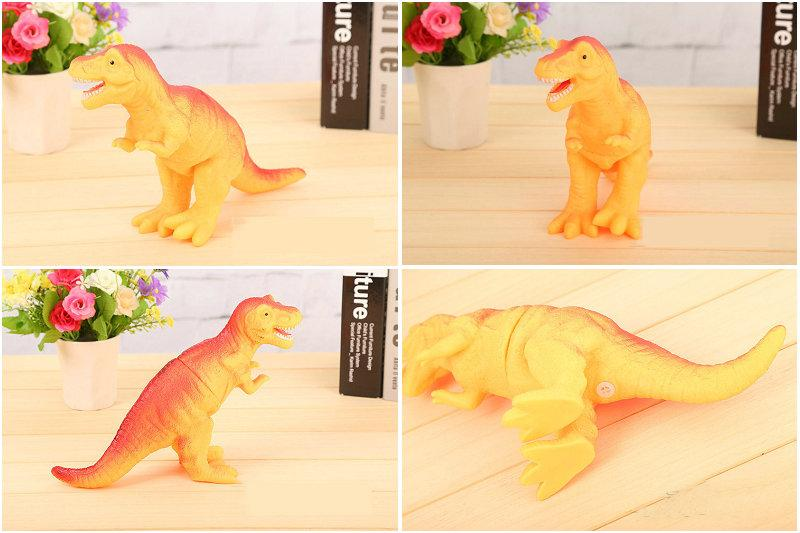 Shrilling dinosaur toys 30cm Screaming Rubber dinosaur Squeeze Stress Toy Funny Squeeze Sound Toy children kids Christmas gift