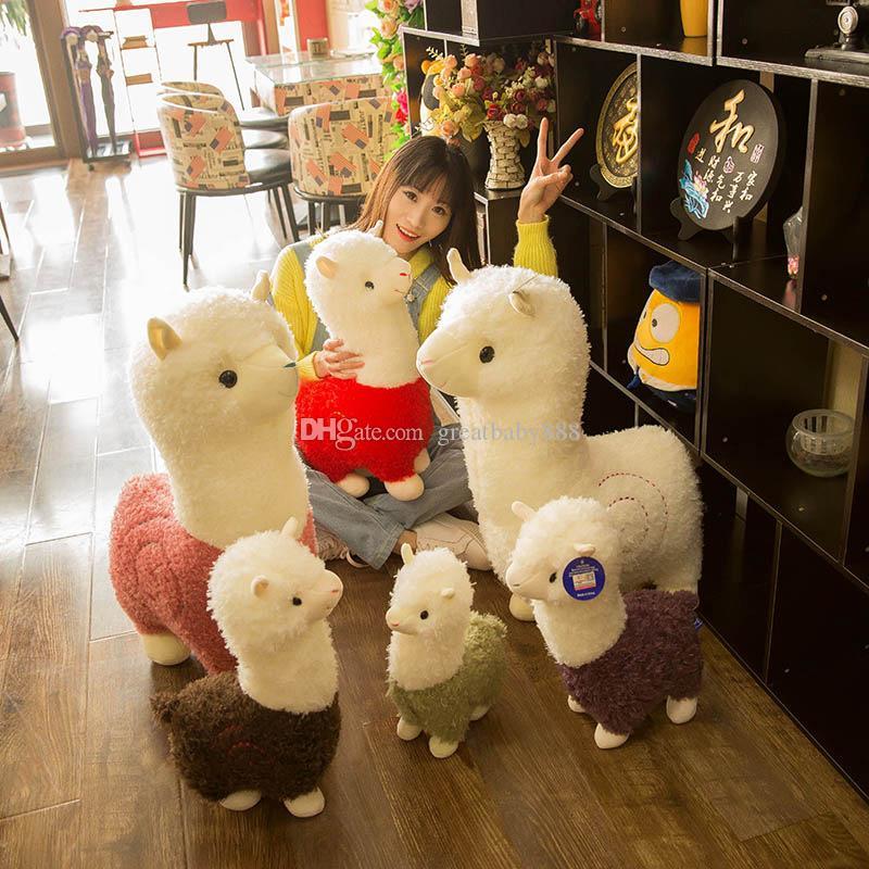 어린이 크리스마스 선물 장난감 6 색 C5129를위한 라마 Arpakasso 동물 인형 28cm / 십일인치 알파카 부드러운 봉제 완구 가와이이 귀여운