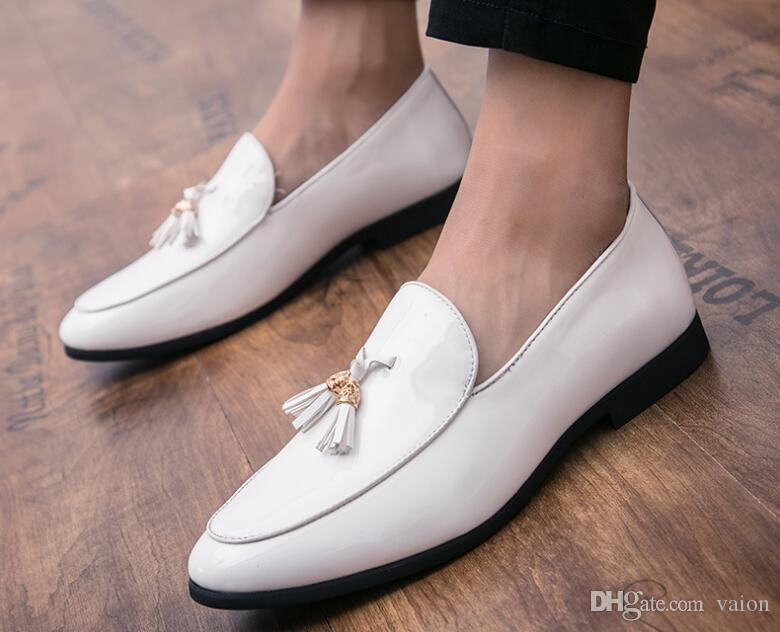2020 New Fashion Trend Men's Pointed Tassel pendant oxford shoes Male Dress Wedding prom Homecoming office Shoe Sapato Social Masculino