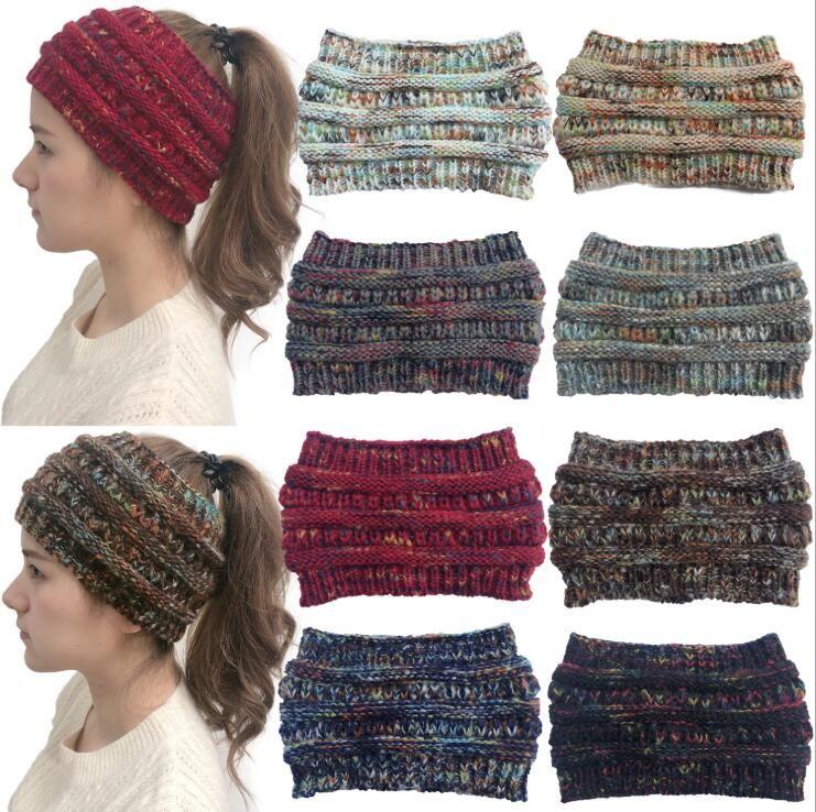 INS Big Girls Colorato lavorato a maglia all'uncinetto Twist Headband Mamma Inverno Scaldino per le orecchie Fascia per capelli elastica Ampia cuffia di berretto di erica Accessori per capelli