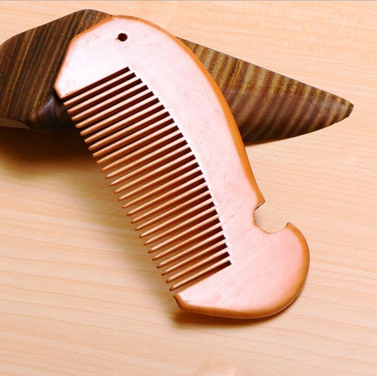 الخشب الدقيق مشط اللحية مشط مخصصة أمشاط الليزر محفورة خشبي مشط الشعر للنساء الرجال الاستمالة مخصصة LXL599A شعارك