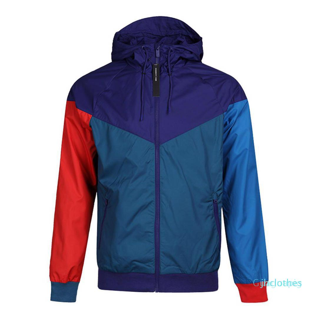 Designer Mens Jackets Sport Windbreaker Patchwork cappotti Stampa Zipper Felpe Esecuzione Outwear all'ingrosso S-2XL rh9