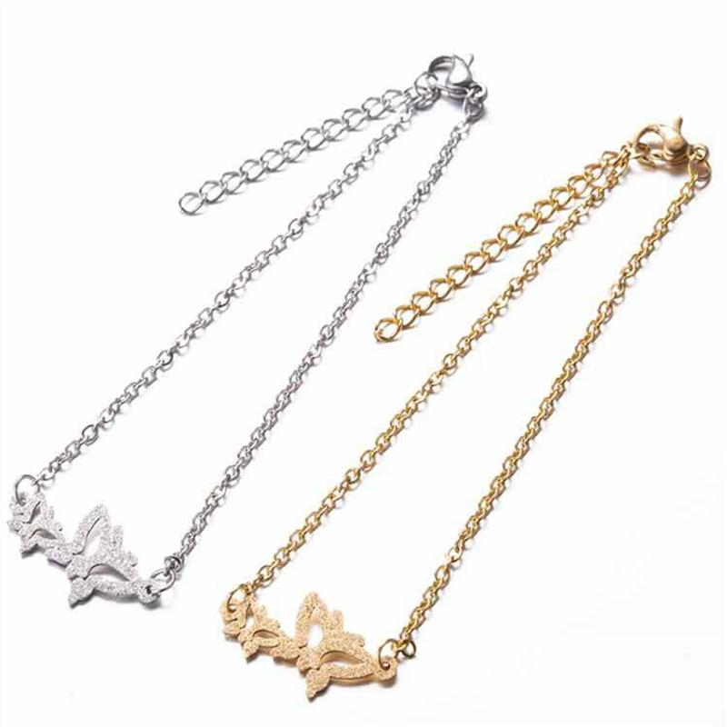 Butterfly Charms Expandable Bolo Bracelet Adjustable silver tone Women Girl Jewelry Gift