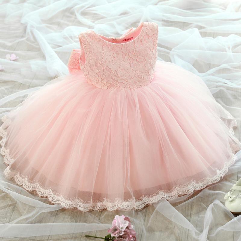 1 anni di compleanno della ragazza del bambino Battesimo abito Christams Costumi bambino appena nato principessa Vestido scherza il regalo di battesimo del partito Dresses1