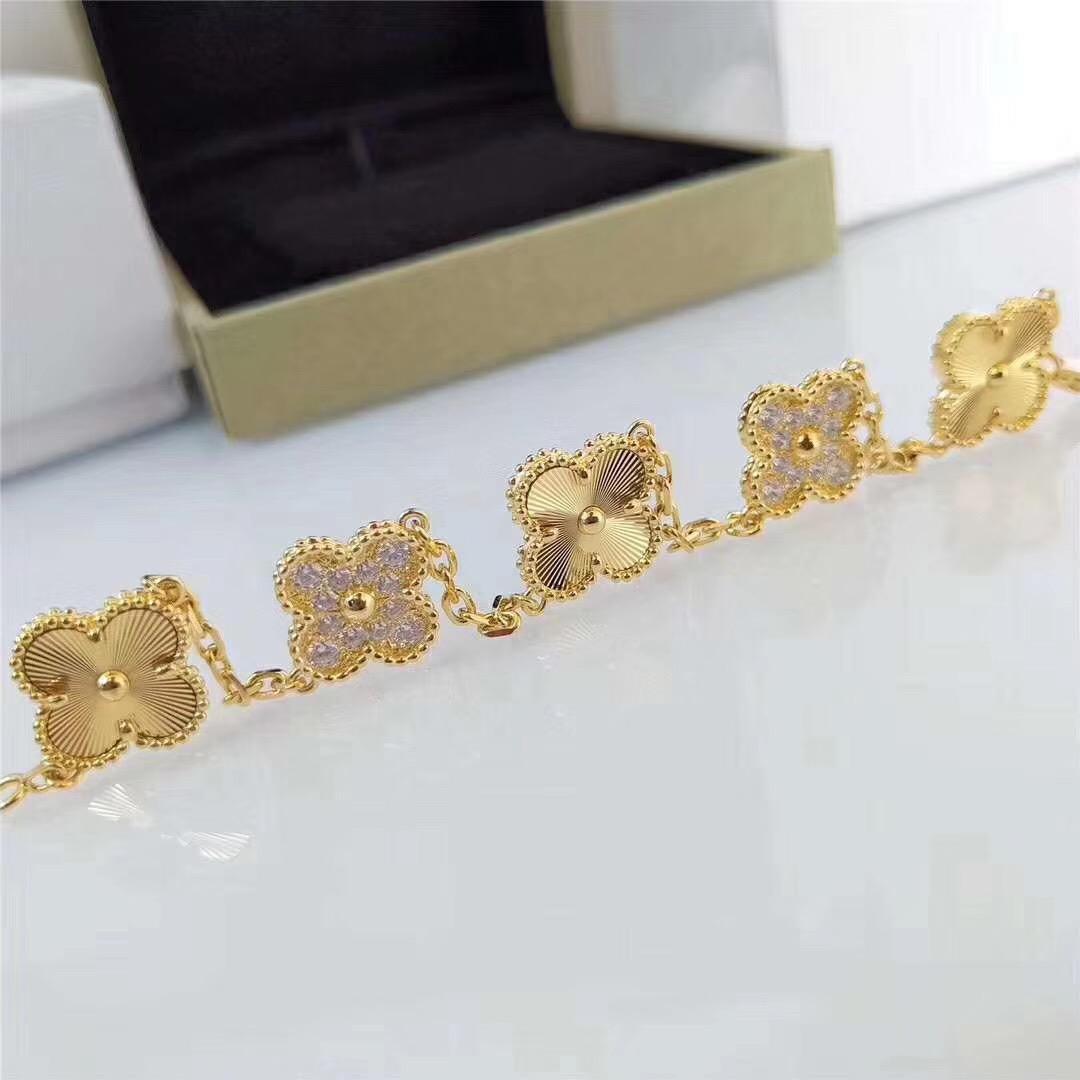 2020 Luxurious Qualität S925 Silber Blume mit fünf Blumen und Diamanten für Frauen Engagement Schmuck Geschenk-freies Verschiffen PS8257