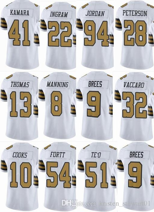 reputable site b2735 5eff1 2019 SAINTS New Orleans #9 Drew Brees #41 Alvin Kamara #13 Michael Thomas  #8 Archie Manning Men Women Youth Color Rush Elite Football Jerseys From ...