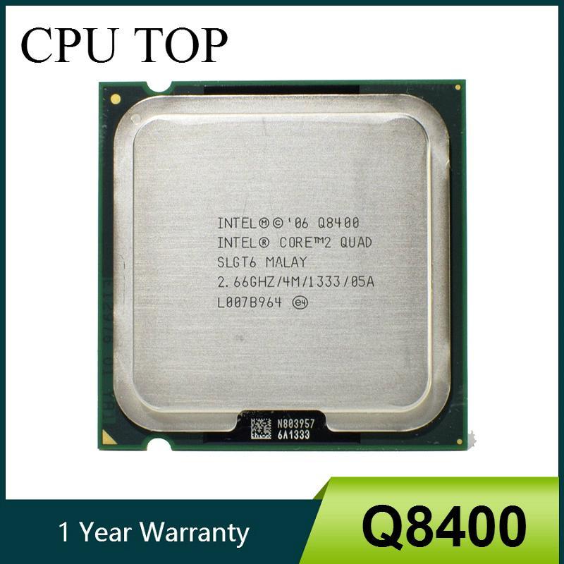 مكونات الكمبيوتر وحدات المعالجة المركزية 100٪ والعامل كور 2 كواد Q8400 المعالج 2.66GHz 4MB 1333MHZ المقبس 775 وحدة المعالجة المركزية