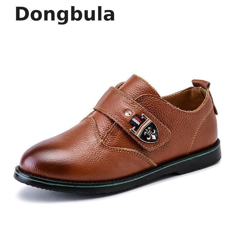 الفتيان اللباس أحذية جلدية للأطفال الزفاف جلد طبيعي أسود مدرسة أكسفورد أحذية أطفال شقة عارضة آداب المطاط الوحيد Y190525