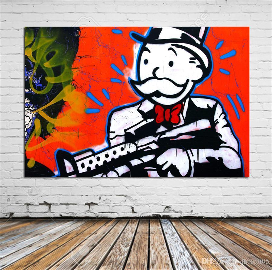 Alec Monopoly -1, HD Impresión en lienzo Decoración para el hogar Pintura de arte (sin marco / enmarcada)