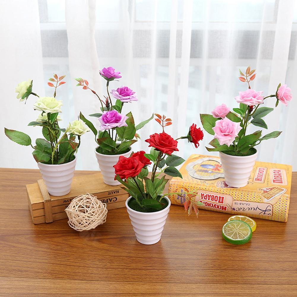 2020 New Artificial Flower Chinese Rose Plant Bonsai Living Room Office For Garden Plant Decor Flower Potted From Livegold 21 05 Dhgate Com
