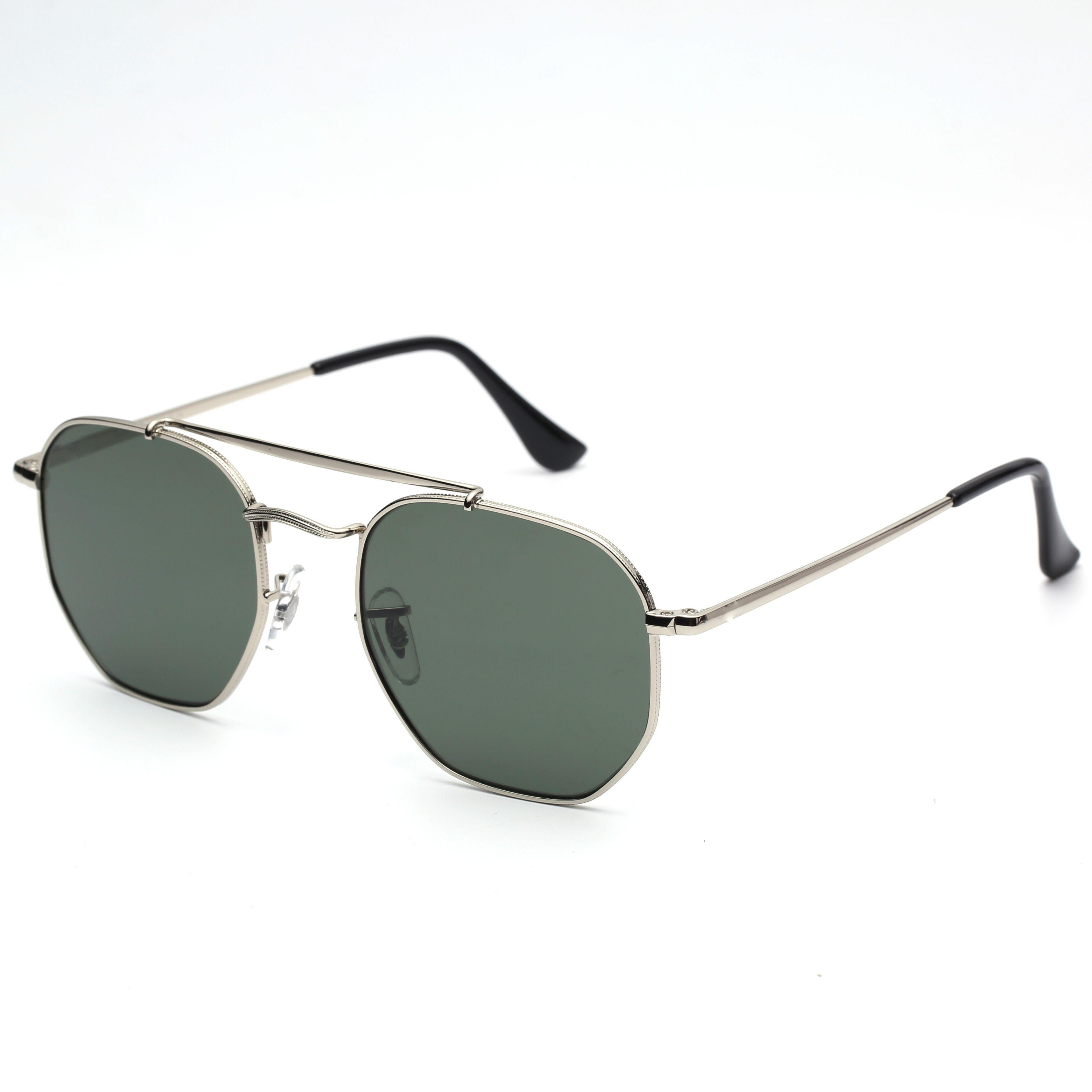 Wholesale-2018 Hexagonal Sunglasses G15 glass lense general sun glasses shades UV400 men women sunglasses glasses with all original packages