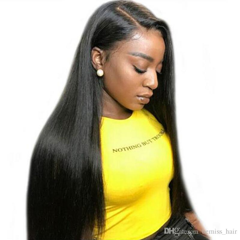 Bemiss Hair® Full Lace Wigs Brazilian Straight Human Hair Lace Wigs Unprocessed 360 Lace Frontal Wigs Pre Plucked With Baby Hair