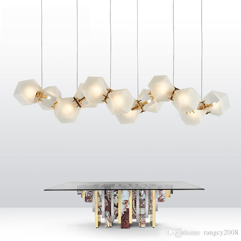 Post Modern Metal Creative DNA Pendant White LED chandelier Circular Can Choose Designer Lamp For Restaurant Studio Home light