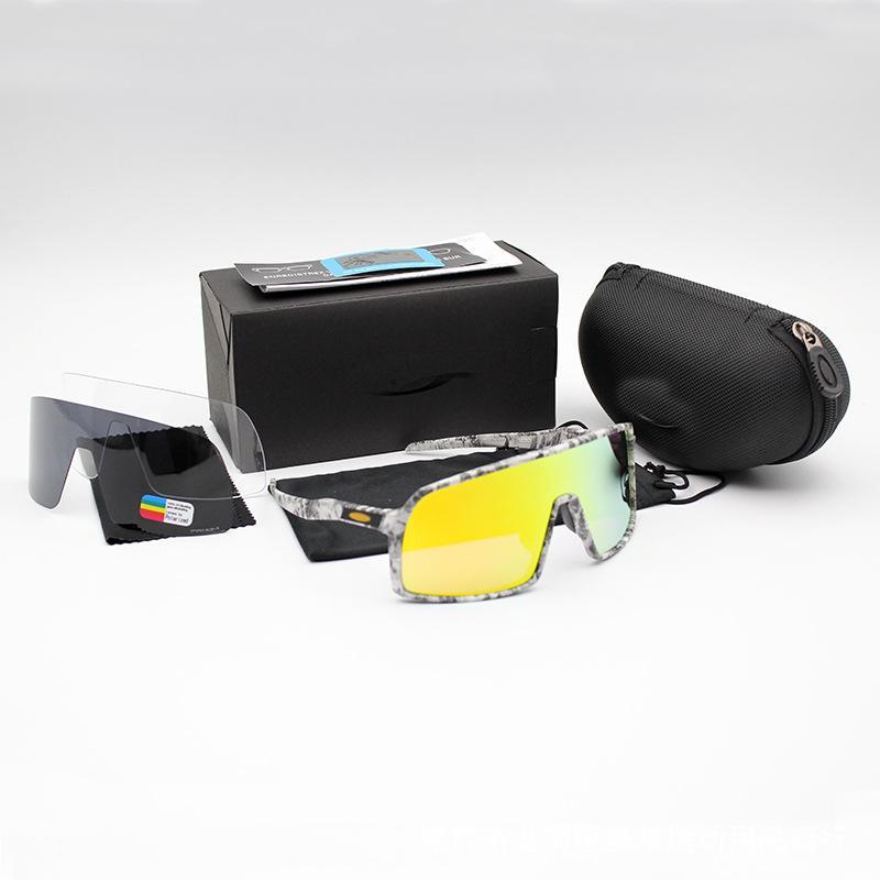 Luxo- OO9406 Ciclismo Eyewear Sutro Homens Moda polarizada TR90 óculos de sol do esporte que funciona Óculos 8 colorido, Polariezed, len Transparente