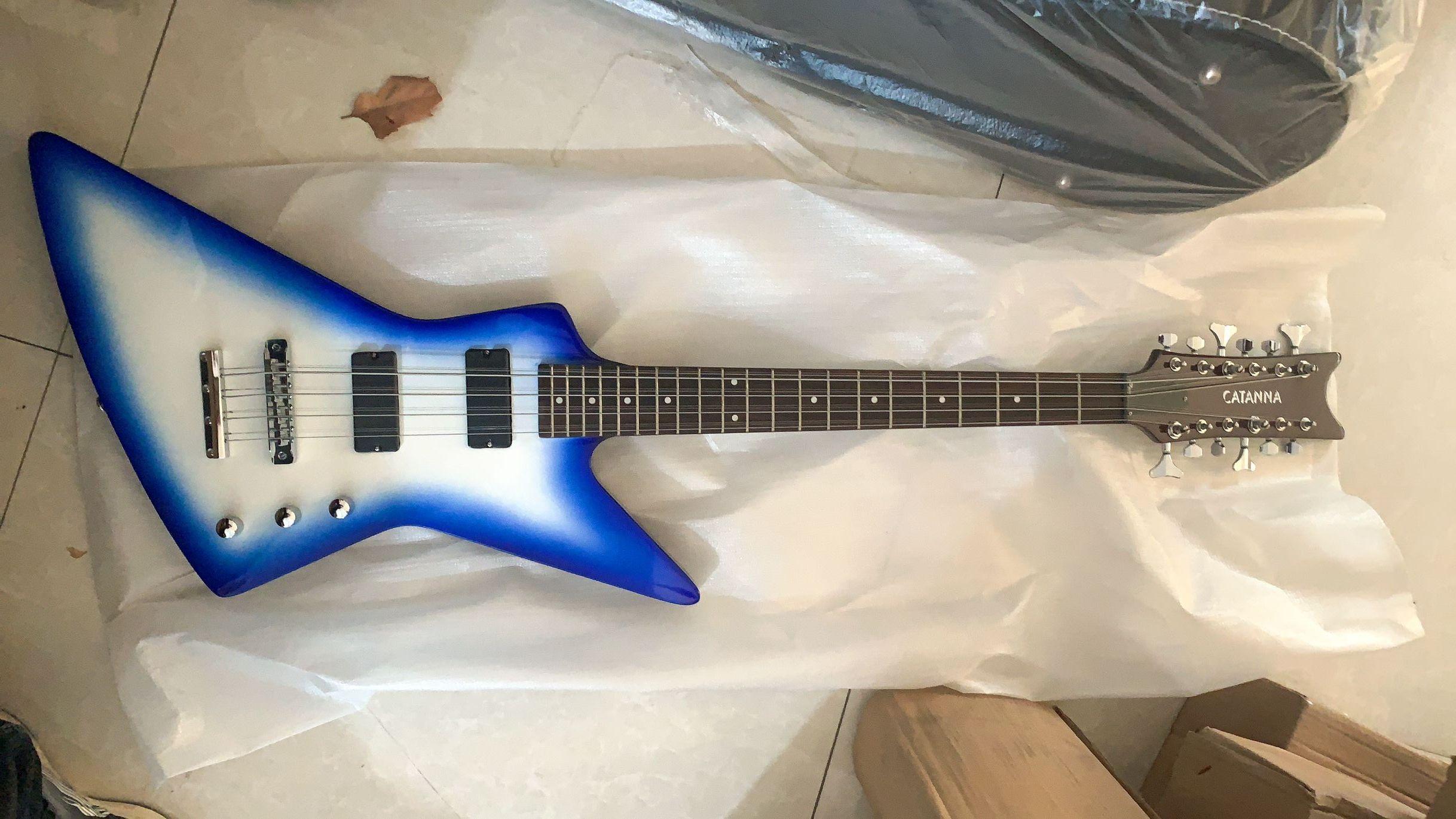 Özelleştirilmiş toptan 12 telli bas gitar, şemse mavi bitirmek bas gitar, ücretsiz kargo