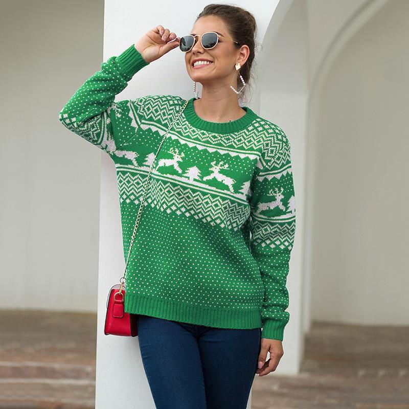 camisola feia do natal veados roupas de inverno mulheres pulôver camisola de malha mulheres