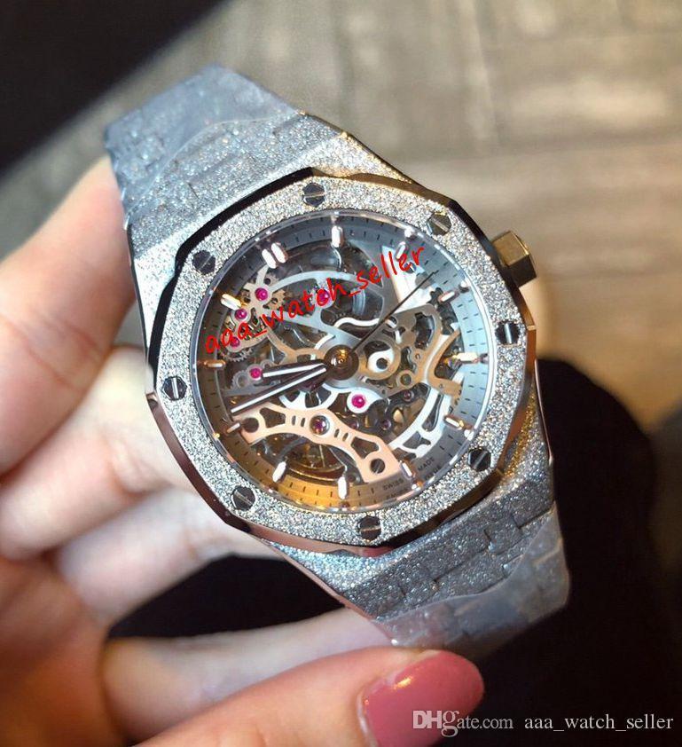 2 стиля Baselworld 2019 Новые женщины роскошные часы 37 мм Royal Oak 15468 15468BC 15407 15400 матовое золото Outhoorworked Lady автоматическое наручные часы