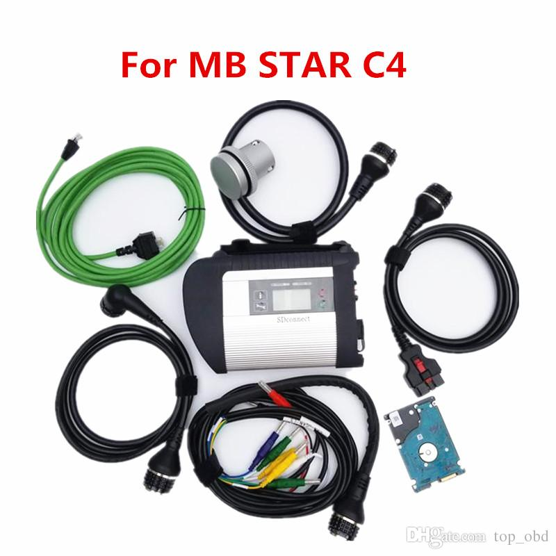 MB Estrela C4 MB SD Connect Compact 4 Ferramenta de diagnóstico com função WiFi V2020.12 Multi-idioma 320 HDD para MB Carros e caminhão