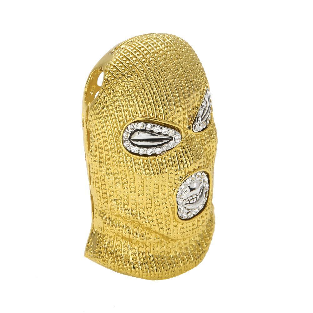 Hotstone88 2018 Hip Hop CSGO Colgante Collar Hombre Punk Style 18K Aleación Oro Plateado Máscara Cabeza Encanto Colgante Cadena cubana de alta calidad