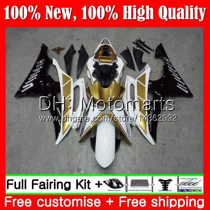 Corps pour YAMAHA YZF600 YZFR6 08 09 10 11 Or noir YZF-R600 91MT6 YZF 600 R 6 YZF-R6 YZF R6 2008 2009 2010 2011 Kit de carrosserie pour carénage à chaud