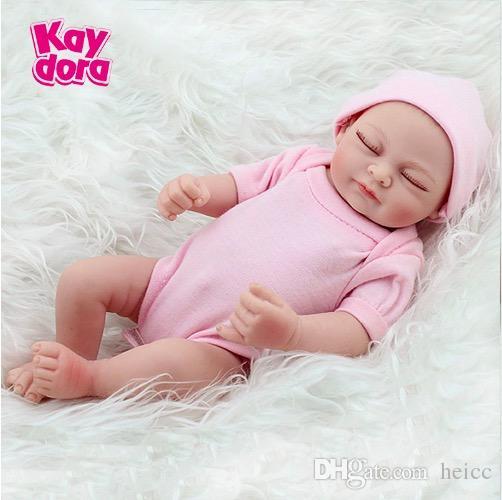 10 inch 28cm Full Silicone Reborn Baby Dolls Alive Lifelike Real Dolls Mini Realistic Reborn Babies Girl Toys Birthday Gift